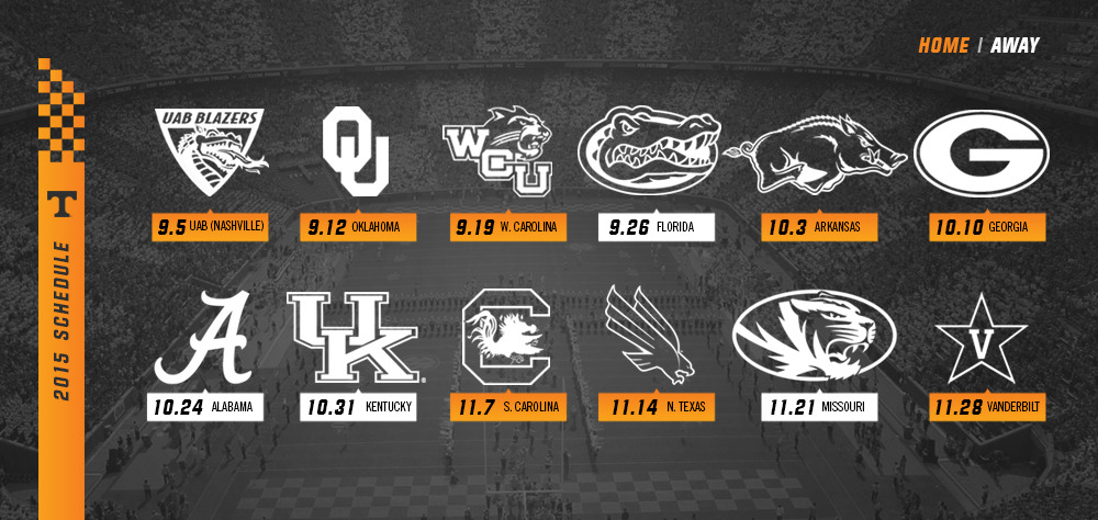 Tennessee Football Schedule 2020.University Of Tennessee Football Schedule 2019 2021