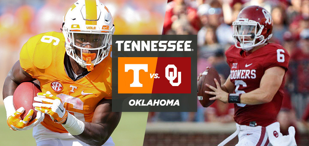 FOOTBALL CENTRAL: #23 Tennessee vs. #19 Oklahoma - University of ...