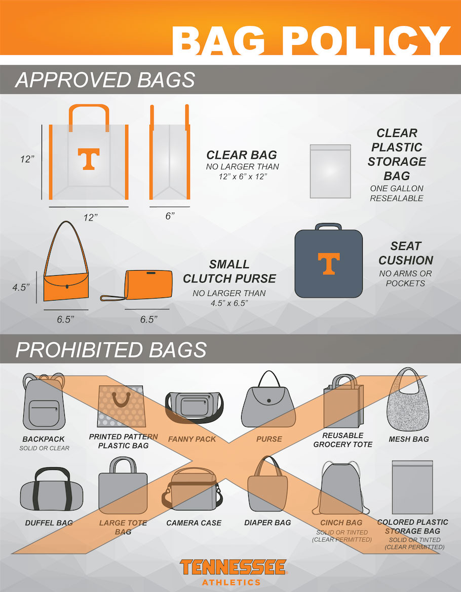 UT Implements New Bag Policy For Athletic Venues