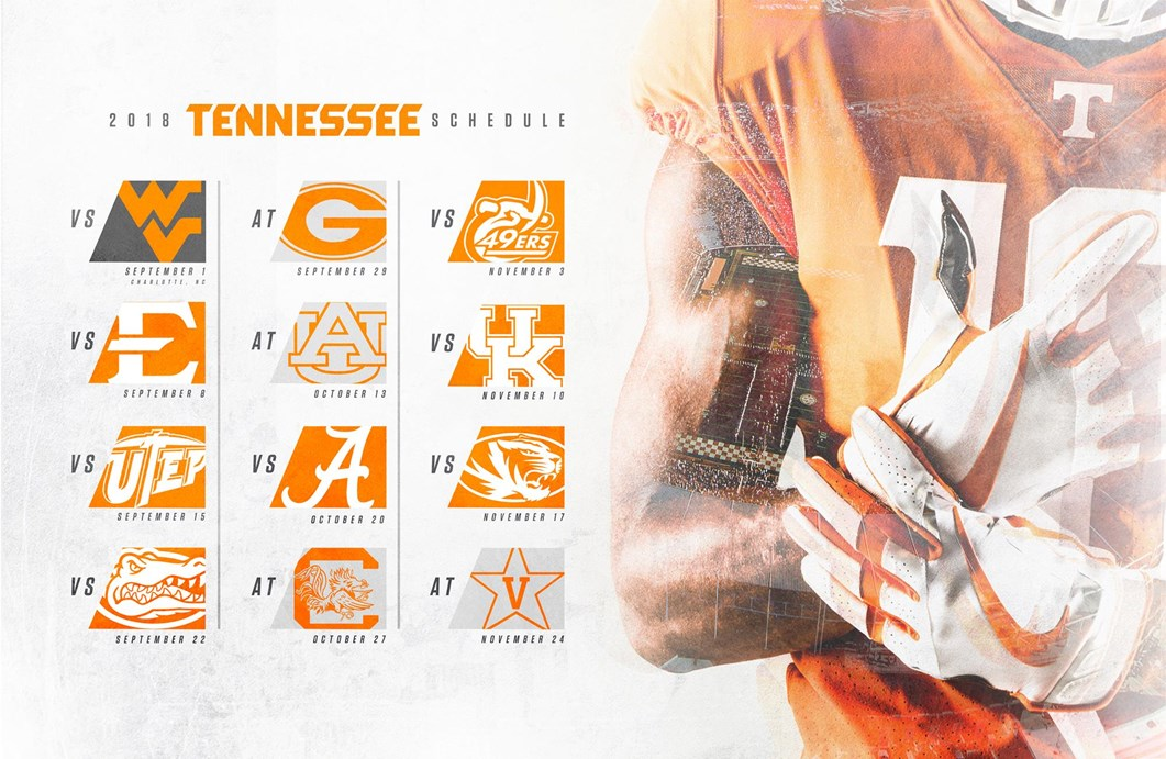 Tennessee Football Announces 2018 Schedule University Of Tennessee