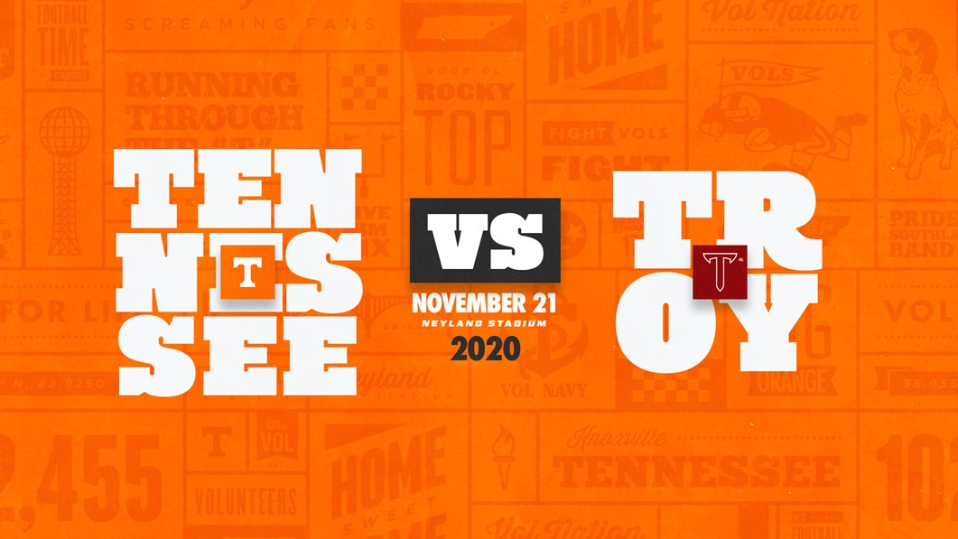Tennessee Football Schedule 2020.Tennessee Football Will Host Troy In 2020 University Of